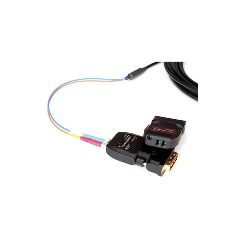 DVI extender en galvanische isolator set, 2xFiber