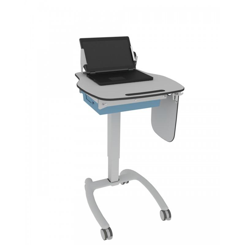 betaalbare, lichtgewicht, in hoogte verstelbare, laptop cart met