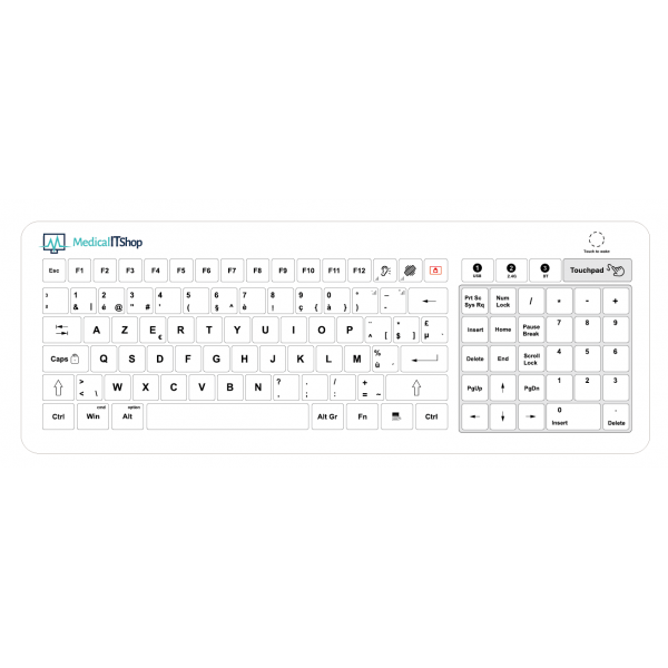 Belgisch draadloos glazen toetsenbord