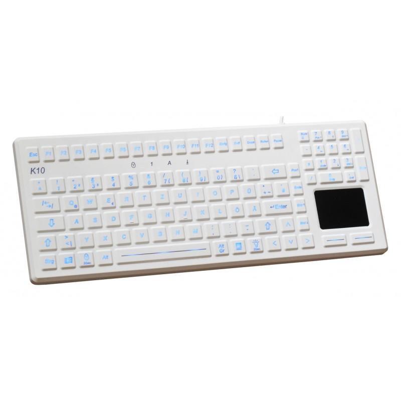 ProKeys medical keyboard touchpad backlight