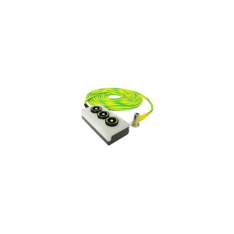 PE Triple Socket 6mm² 1m